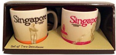 Starbucks Global Icon Collection Set of 2 Singapore Demitasse Mugs