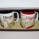 Starbucks Set of 2 Two Global Icon Series Macau & China Demitasse Demi Espres...
