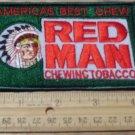 RED MAN CHEWING TOBACCO CLOTH PATCH 4 3/8X 2 7/8IN.