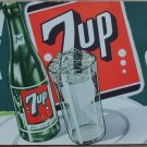 "VINTAGE '40S-'50"" 7UP""FRESH UP WITH A 7UP FLOAT"" SIGN""UNUSED/MINT"""