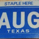 "TEXAS MONTH PLATE STICKER""AUGUST"""