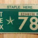 1978 TEXAS PLATE RENEWAL STICKER