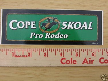 COPENHAGEN SKOAL PRO-RODEO 6.5INCH RECTANGLE DECAL