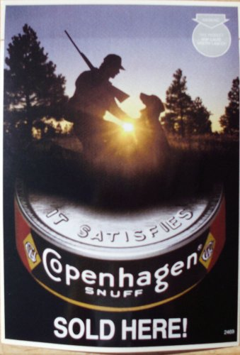 "COPENHAGEN FRONT DOOR HUNTER WITH DOG DECAL""RARE"""