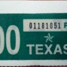 2000 TEXAS LICENSE PLATE STICKER