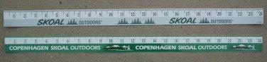 "2-COPENHAGEN SKOAL OUTDOORS/SKOAL OUTDOORS 24"" RULERS ADHESIVE STICKER"