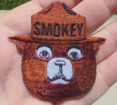 SMOKEY BEAR IRON-ON  CLOTH PATCH NEW/UNUSED