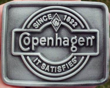 "COPENHAGEN SINCE 1822 IT SATIFIES BUCKLE PEWTER COLOR FINISH ""NEW/UNUSED"""