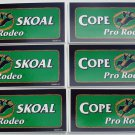 6-COPENHAGEN SKOAL PRO-RODEO 6.5INCH RECTANGLE DECALS