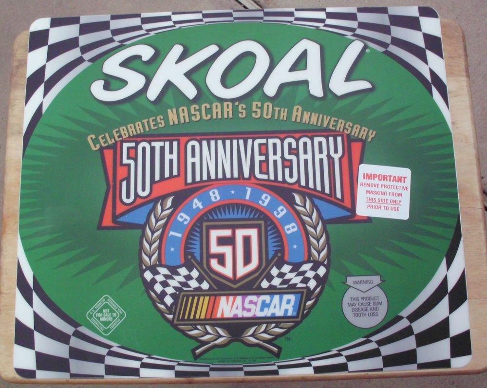 1998 SKOAL 50TH ANNIVERSARY NASCAR  PLASTIC COUNTER MAT 17 X 14.5