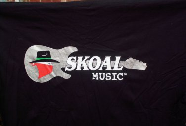 SKOAL BANDIT MUSIC BLACK T-SHIRT LOGO FRONT AND BACK XL SIZE