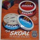 """VINTAGE 1995 SKOAL FLAVOR PACK DOOR/COUNTER DECAL 6X7"""""""