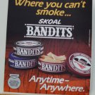 VINTAGE 1987  SKOAL BANDITS  DOOR/COUNTER DECAL 6X7""