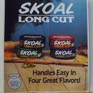 VINTAGE 1987 SKOAL LONG CUT  DOOR/COUNTER DECAL 6X7""