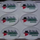 6-SKOAL BANDIT OUTDOORS DECALS 8 X5.25 INCHES