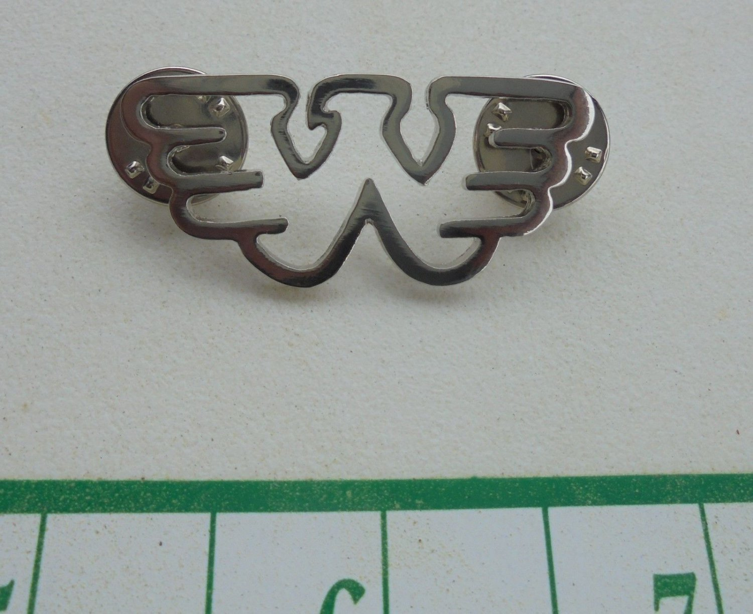 COOL WAYLON JENNINGS LOGO HAT SILVER COLOR PIN