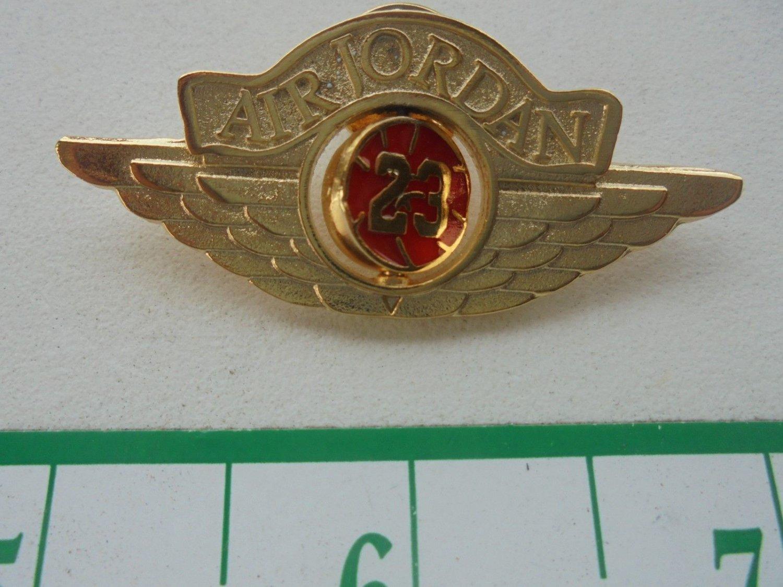 AIR JORDAN-RED INSET 23/WING LOGO PIN-GOLD COLOR-NEW