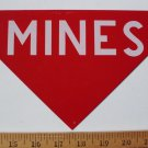 1966 VIETNAM ERA METAL MINE SIGN NOS