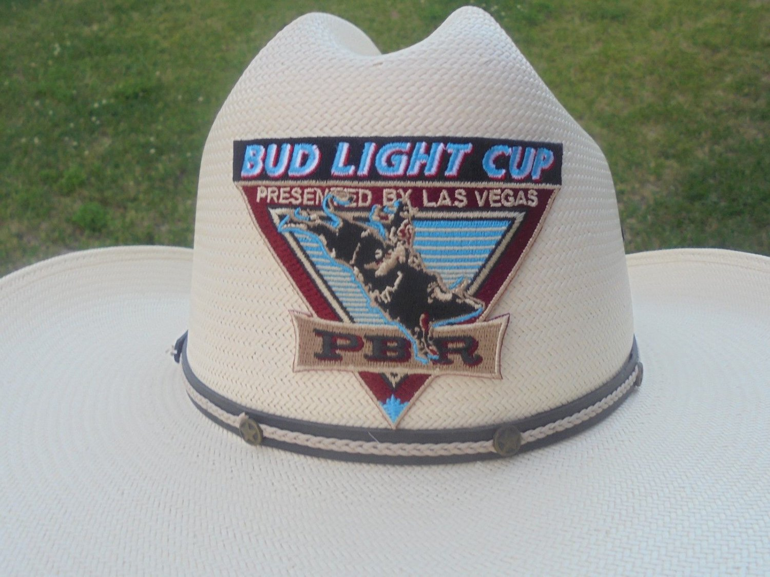 BUD LIGHT CUP-PBR- CLOTH PATCH ADHESIVE BACK RARE!