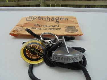 "COPENHAGEN  LID CUTTER PEWTER COLOR WITH LANYARD FOR KEY CHAIN ""NEW/UNUSED"""