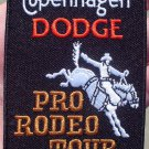 COPENHAGEN DODGE PRO-RODEO TOUR CLOTH PATCH RARE!