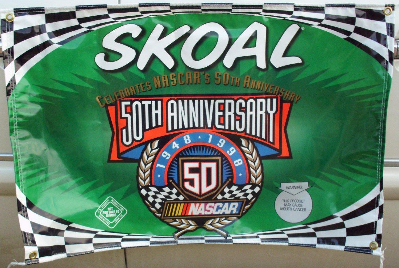 """SKOAL 50TH ANNIVERSARY NASCAR VINYL BANNER""""NEW/UNUSED"""""""