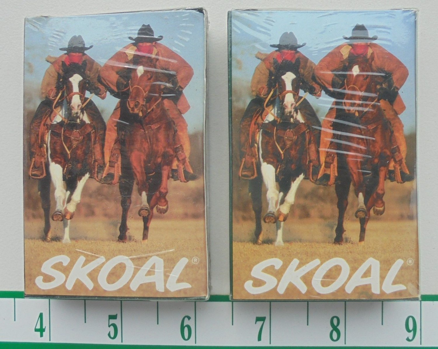 2-SEALED PACKS SKOAL PLAYING CARDS BANDIT COWBOYS ON HORSES
