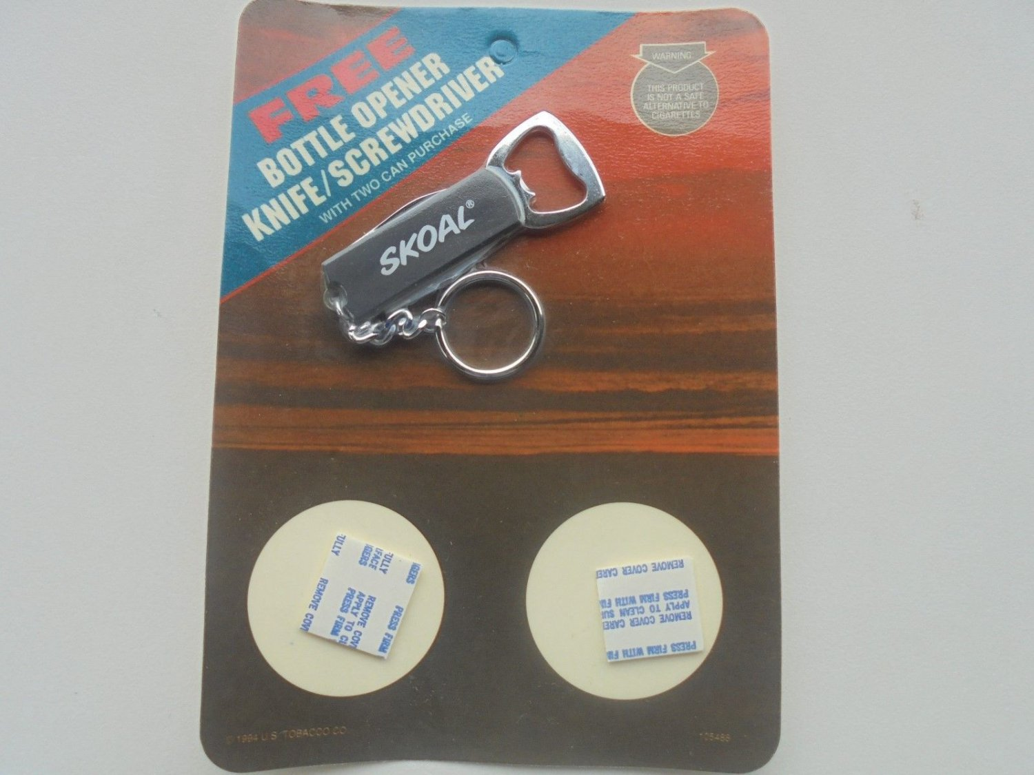 SKOAL BOTTLE OPENER/KNIFE/SCREWDRIVER PACKAGE -NEW
