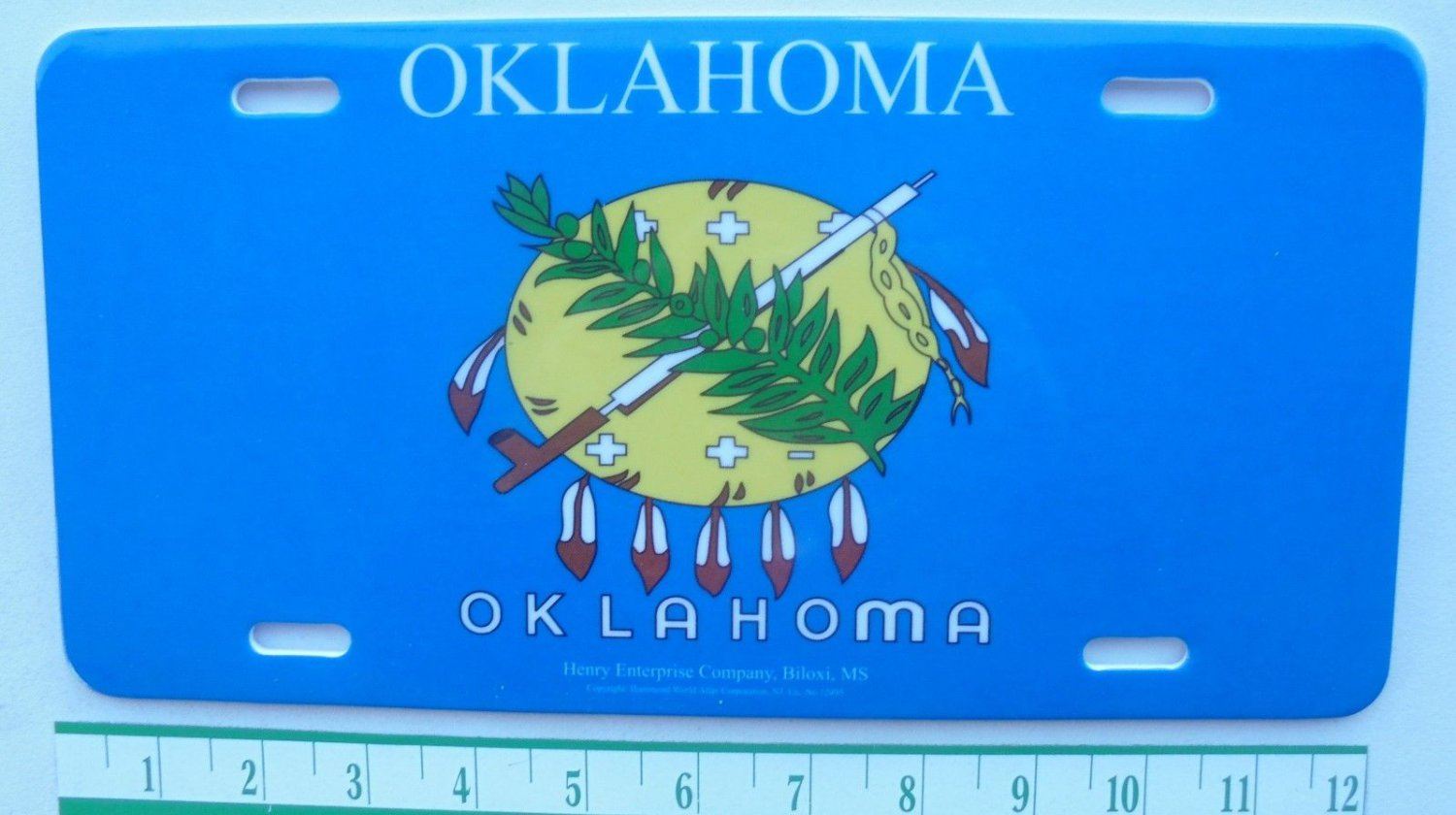 OKLAHOMA TOPPER PLATE-NEW-HEAVY PLASTIC