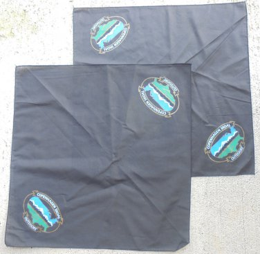 2-COPENHAGEN-SKOAL OUTDOORS BANDANAS NEW/UNUSED BLACK
