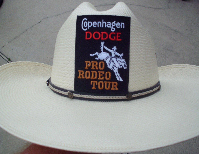 COPENHAGEN DODGE PRO-RODEO TOUR CLOTH PATCH ADHESIVE BACK RARE!