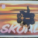 1992 SKOAL MOTORCYCLE/BEACH METAL SIGN