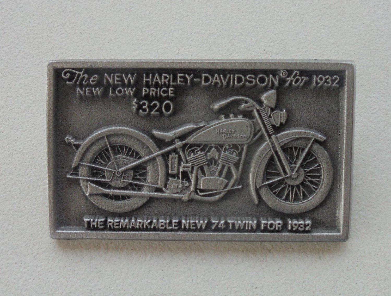1932 Harley Flathead pin vintage motorcycle collectible old biker pinback