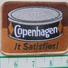 "VINTAGE COPENHAGEN ""IT SATISFIES"" CLOTH IRON-ON PATCH 4""X3"""