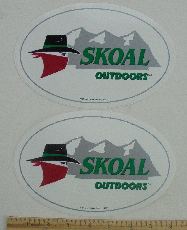 2-SKOAL BANDIT OUTDOORS DECALS 8X 5.25IN
