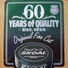 "SKOAL ""60 YEARS OF QUALITY"" FRONT/BACK ENTRY DOOR DECAL 1994"