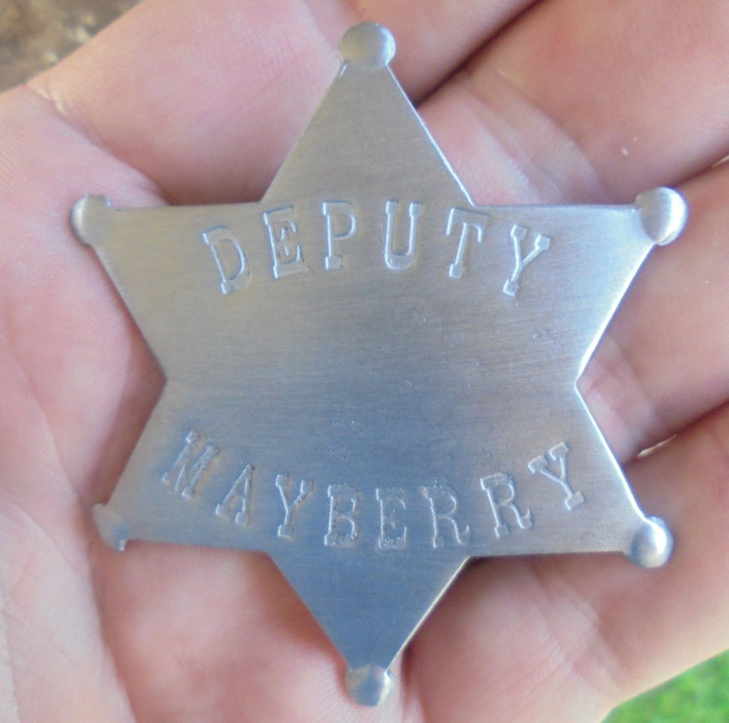 Andy Griffith TV Show - Mayberry Deputy Sheriff Badge Prop Replica (Brand New)