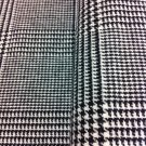 Black and White Wool Fabric -Sewing Craft Supplies By the Yard
