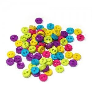 Mini Rainbow Buttons - Sewing Supplies