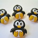 Penguins Novelty Buttons - Sewing Craft Supplies