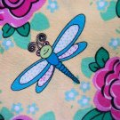 BTY Dragonflies on Yellow Cotton Fabric - By the yard Sewing supplies