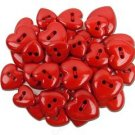 Valentine,s Hearts Novelty Buttons- plastic buttons sewing craft supplies
