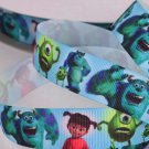 Disney Monsters Printed Grosgrain Ribbon/DIY Hair Bow/5YARDS