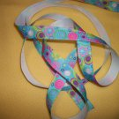 Feeling Groovy on Blue Printed Grosgrain Ribbon - DIY