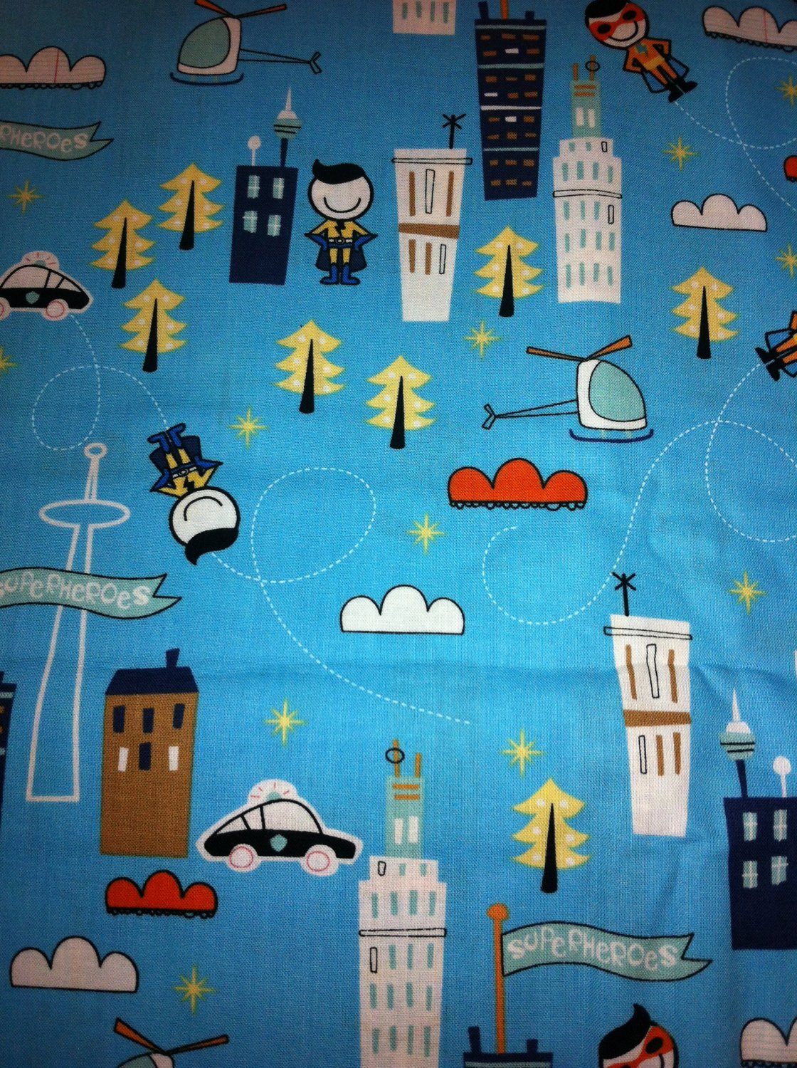 BTY Super Hero Cotton Fabric - By The Yard Sewing craft supplies