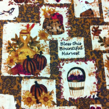 BTY Bless this Harvest Autumn Cotton Fabric- By the Yard Sewing Craft Supplies