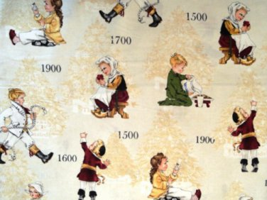 Children through the Years Cotton fabric - Half Yard sewing supplies