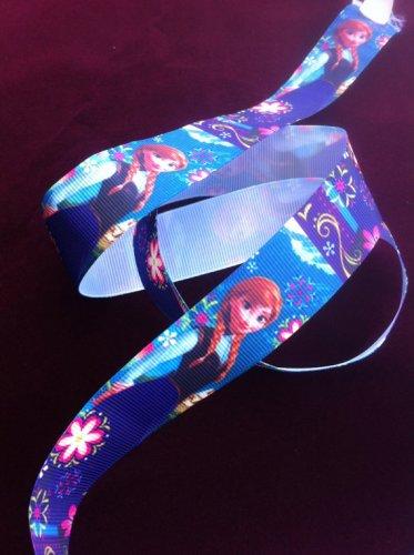 """Disney Frozen  Princess Anna Party Dress Grosgrain Ribbon/1""""width /DIY Hair Bow /Craft Supplies"""