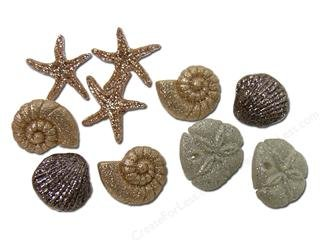 Seashells Novelty Buttons Plastic Buttons - DIY Sewing craft supplies