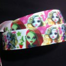 Monster High Multicolor Printed Grosgrain Ribbon - DIY